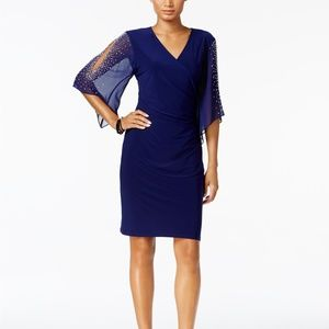 MSK Embellished Cold-Shoulder Dress midnight